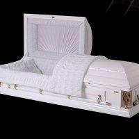 Элитный гроб «Канада с ангелами» белый